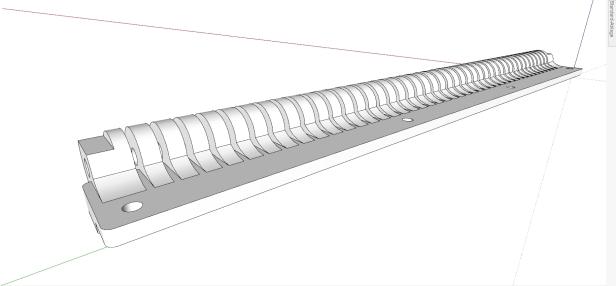 3D-Modell Tastenlagerung