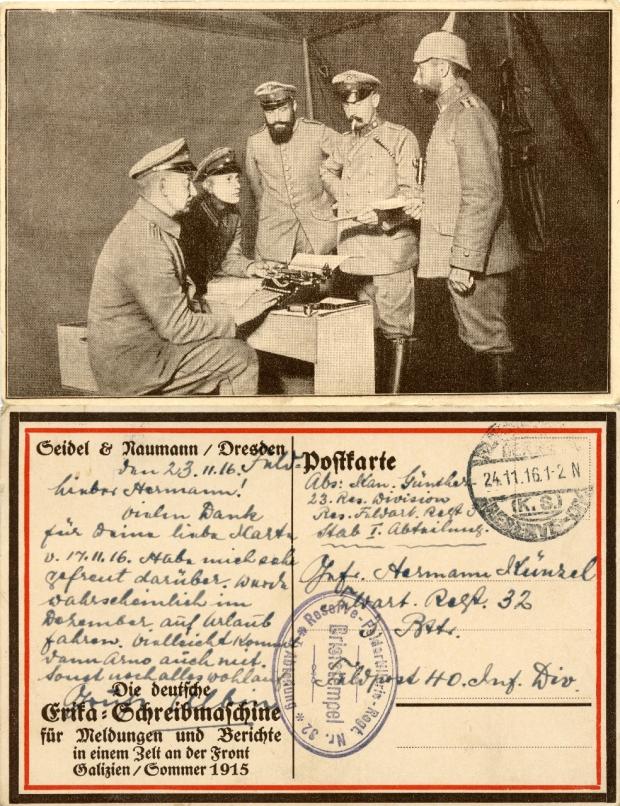 Werbepostkarte S&N 1916